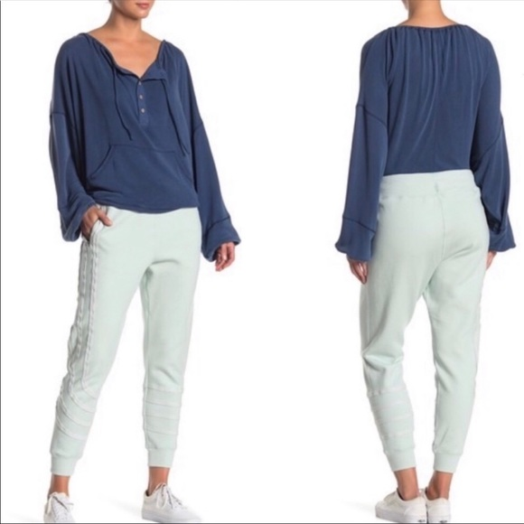 Free People Pants - Free People Movement Far Out Striped Jogger Pants
